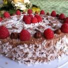 recept na cokoladovu tortu s kokosovou plnkou