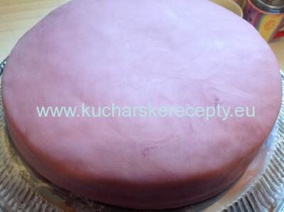 recept orechovo-jahodova torta - potahovanie