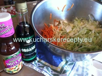 recept chow mein suroviny